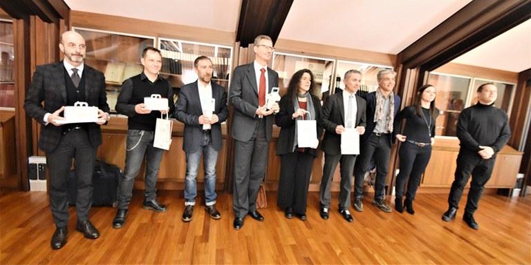 """Consorzio Modena a Tavola - Progetto """"AVANZA Riduci, Rigusta, Riutilizza"""" - Conferenza stampa, foto di gruppo"""