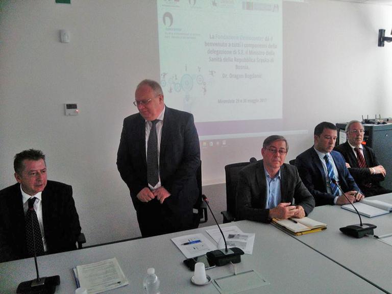 Delegazione del Ministero della Sanità della Republika Srpska di Bosnia Erzegovina - Intervento del Ministro