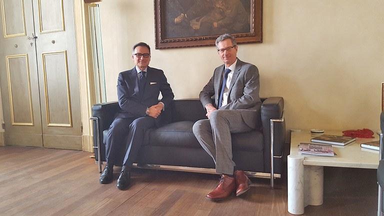 Il Presidente Giuseppe Molinari ha ricevuto il nuovo Prefetto di Modena Pierluigi Faloni