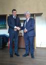 Il Questore Filippo Santarelli e il Vice Presidente della CCIAA di Modena Gian Carlo Cerchiari