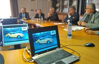 Immagini della conferenza stampa di presentazione di Modena Motor Gallery tenuta alla Camera di Commercio il 20 settembre 2017
