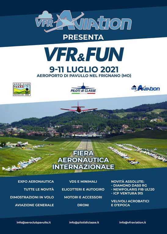 Locandina VFR & FUN 2021
