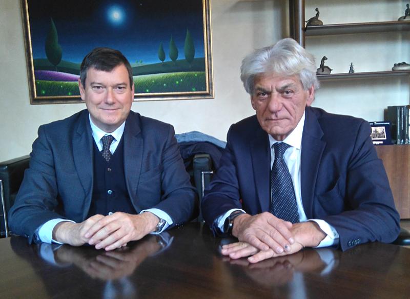 Questore Filippo Santarelli e Vice Presidente CCIAA Modena Gian Carlo Cerchiari