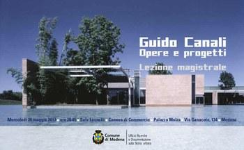 A Modena l'architetto Guido Canali