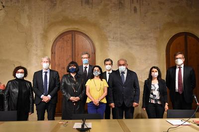 I rappresentanti degli enti facenti parte di Carpi Fashion System