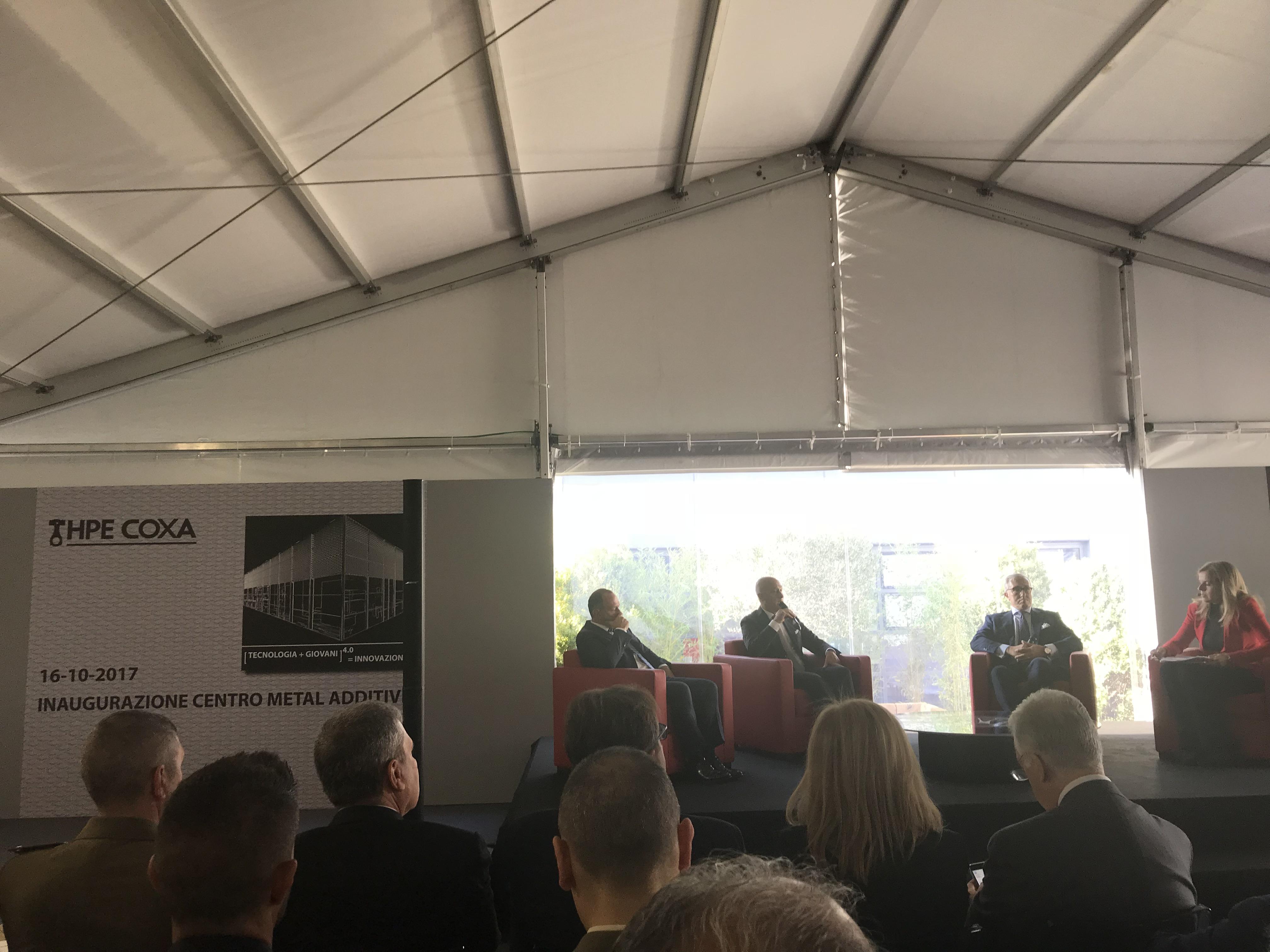 Il convegno di inaugurazione del Centro di ricerca Metal Additive di HPE COXA