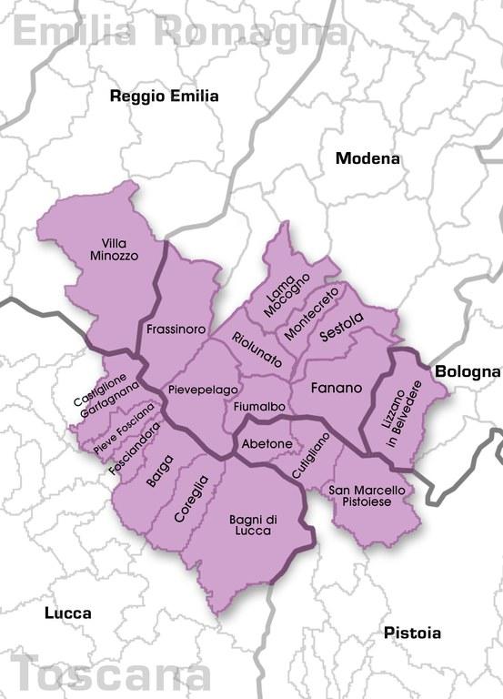 Zona di produzione Mirtillo nero dell'Appennino modenese