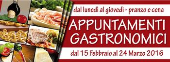 """""""Appuntamenti gastronomici"""": tra buona cucina e promozione del territorio"""