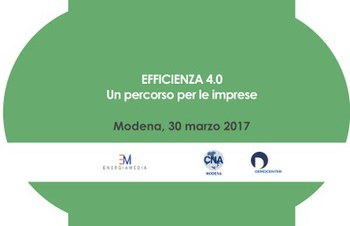 """Efficienza 4.0 Un percorso per le imprese"""