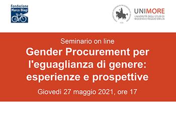 """""""Gender Procurement per l'eguaglianza di genere: esperienze e prospettive"""""""