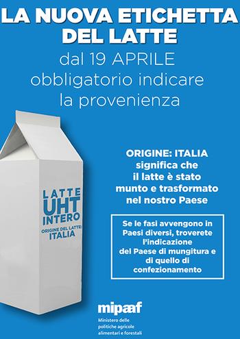 Latte, è obbligatoria l'etichetta salva Made in Italy