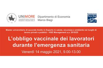L'obbligo vaccinale dei lavoratori durante l'emergenza sanitaria