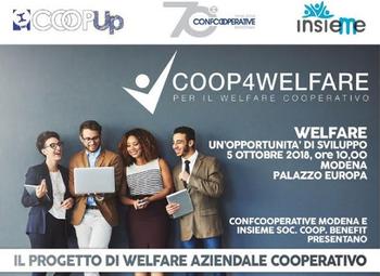 Parte Coop4Welfare: servizi per il benessere dei lavoratori