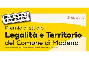 """Premio di Studio """"Legalità e Territorio"""" 2021"""