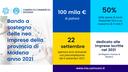 """Al via il """"Bando a sostegno delle neo-imprese modenesi - Anno 2021"""""""