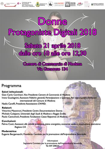 Donne Protagoniste Digitali 2018