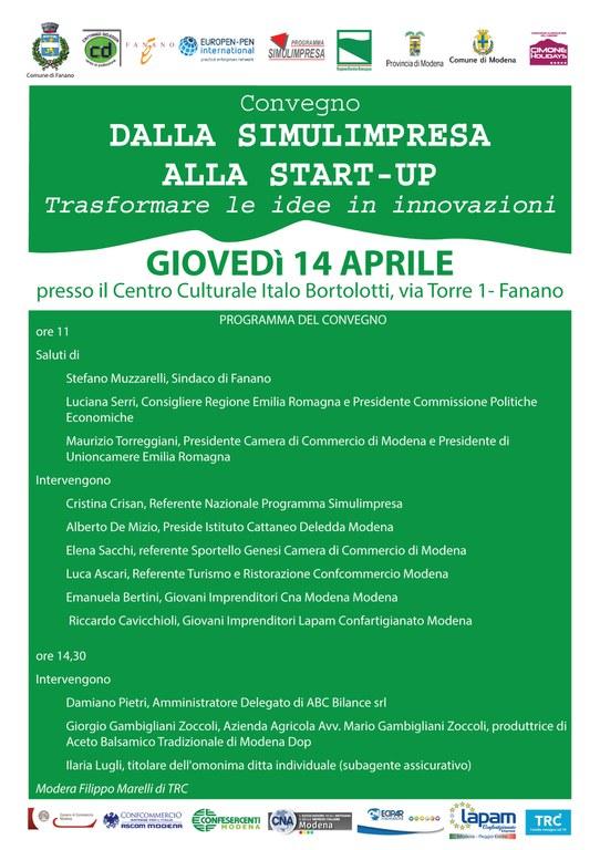 """Convegno """"Dalla simulimpresa alla start-up"""""""