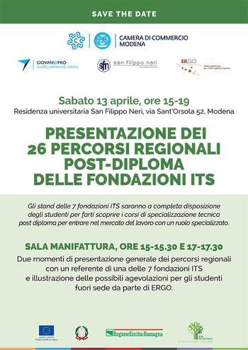 Sabato 13 aprile il Salone ITS a Modena