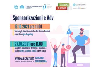Sponsorizzazioni e ADV: continua la formazione di Eccellenze in digitale con il PID della C.C.I.A.A. di Modena