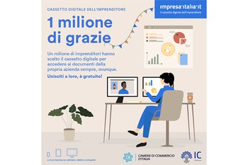 """""""Cassetto digitale dell'imprenditore"""" per 1 milione di imprese"""