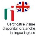 Certificati e Visure in lingua inglese