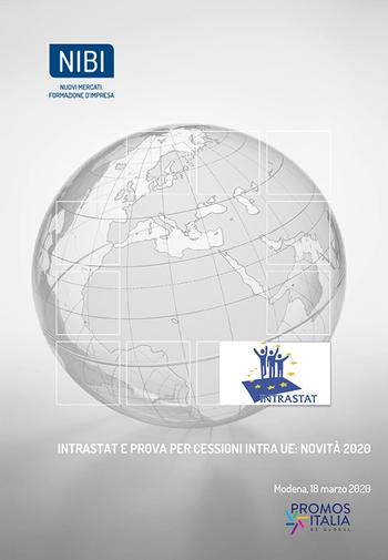 """Corso: """"INTRASTAT e prova per cessioni INTRA UE: Novità 2020"""""""