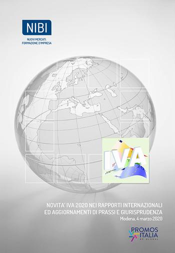 Corso Novità IVA 2020 nei rapporti internazionali ed aggiornamenti di prassi e giurisprudenza