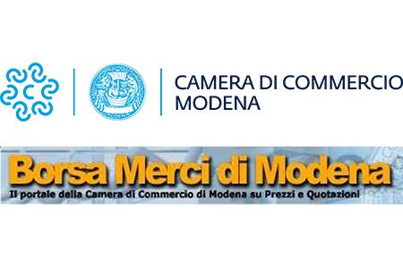 Listino della Borsa Merci di Modena di lunedì 25/10/2021