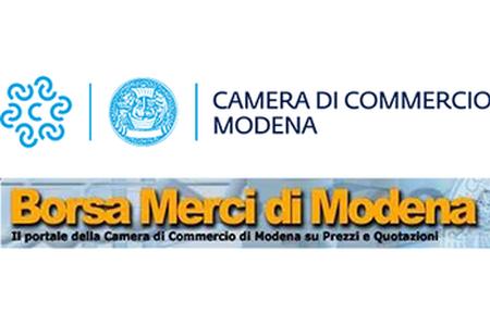 Listino della Borsa Merci di Modena di lunedì 26/07/2021